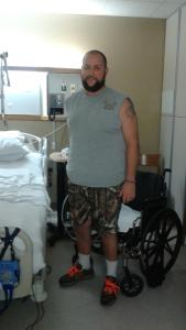 Robert is walking out of the hospital today!